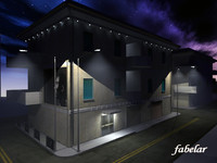 3d building lights volumetric
