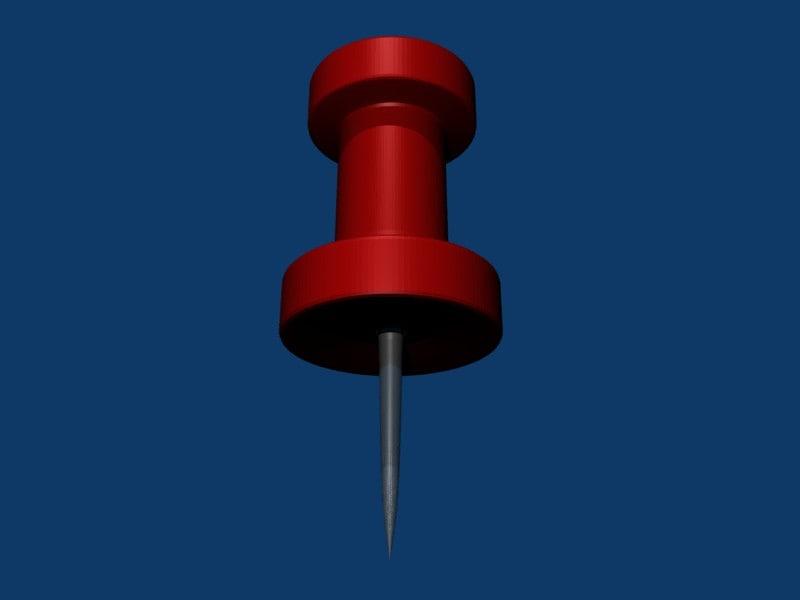 pushpin pin 3d obj