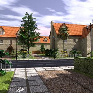 residential scene 3ds