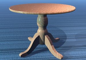 3dsmax dining room table