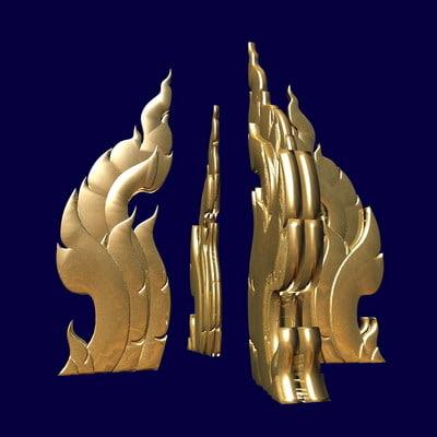 3d model thai art element