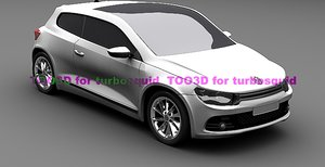 3d scirocco car model