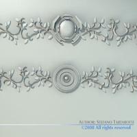 stucco decorations 3d 3ds