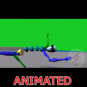 3d model animación matrix