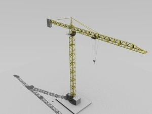 tower crane 3d obj