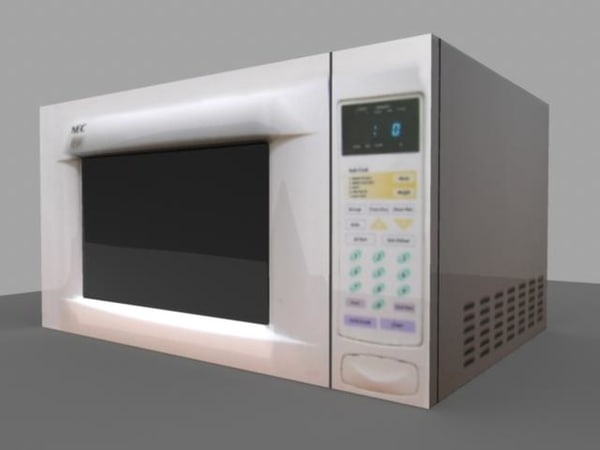 microwave prop 3d model