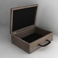 3d model wooden case