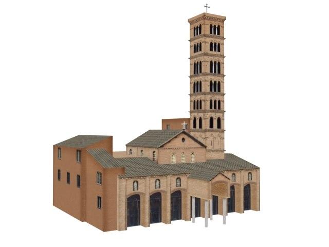 3d model church vatican building structure