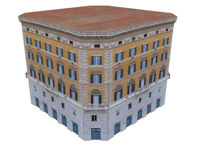 european bank building structure 3ds