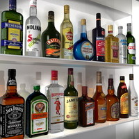 3d bottles beverages