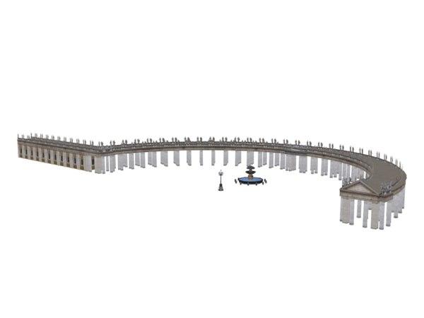 3d rome passageways model