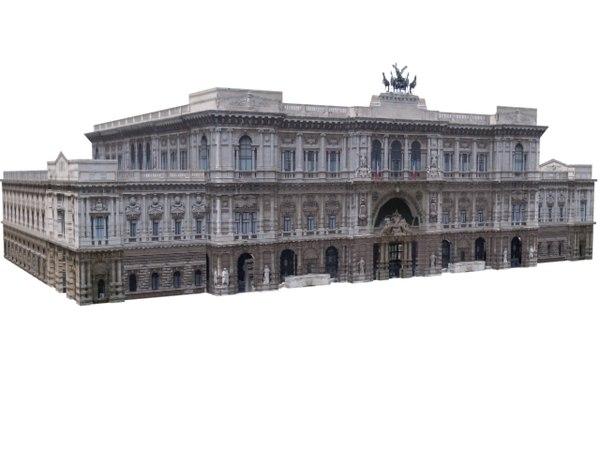 3d model building structure majestic europe