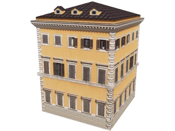 building europe 3d model
