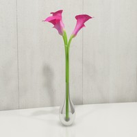 contemporary flower 3d model