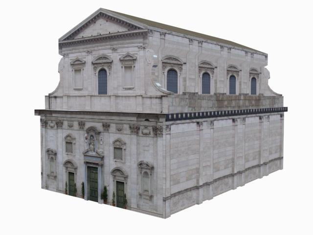 old vatican european church building 3d model