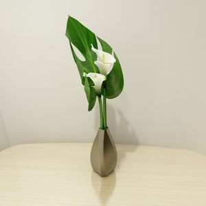 contemporary flower 3d model
