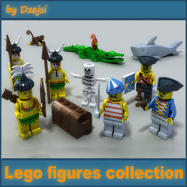 3ds max lego figures