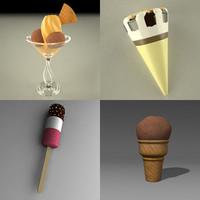3d ice creams model