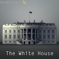 white house 3d dxf