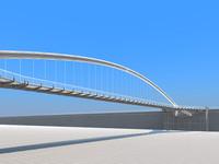 pedestrian bridge 3d model