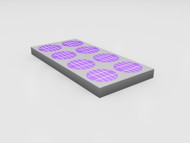 3d model photovoltaic cell animation