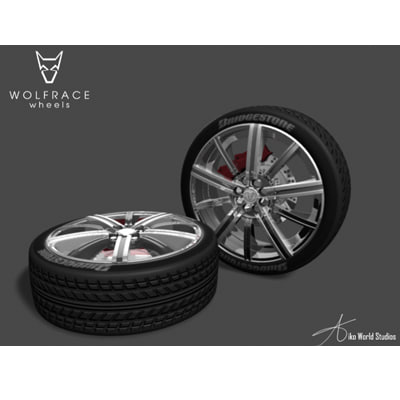 3d model wheels tyre