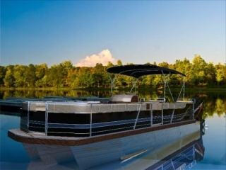 sport pontoon boats 3d model