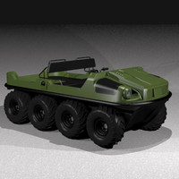 vehicle eightwheeler 3d model