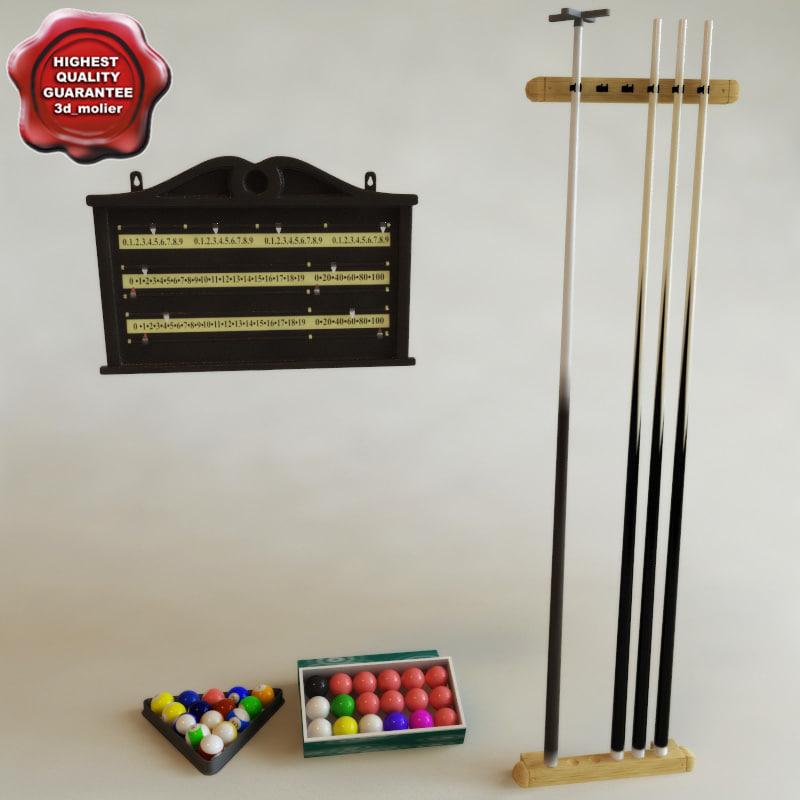 accessories billiards 3d lwo