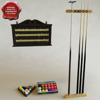 accessories billiards 3d lwo