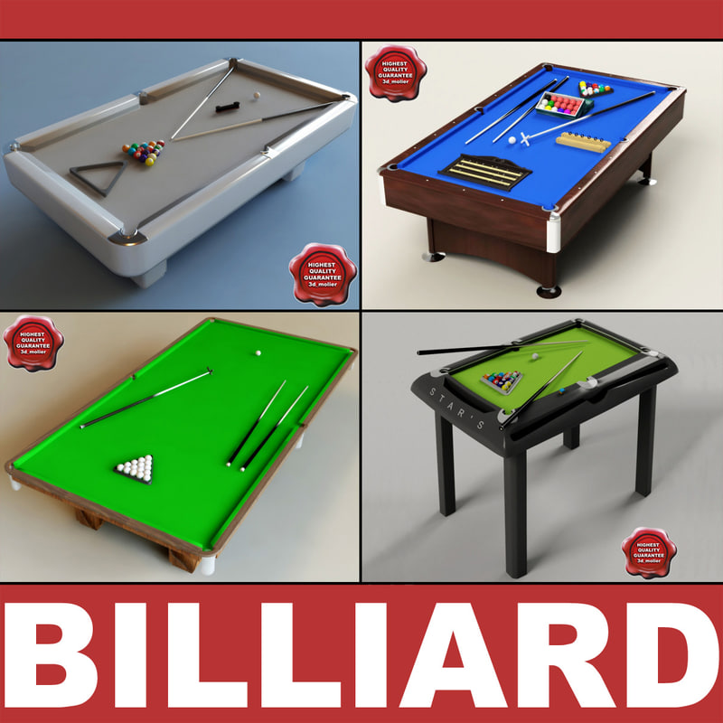 billiard-tables interior modelled 3d xsi