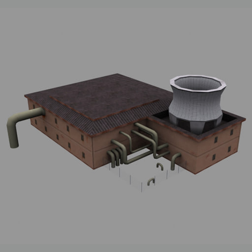 3d power station plant model