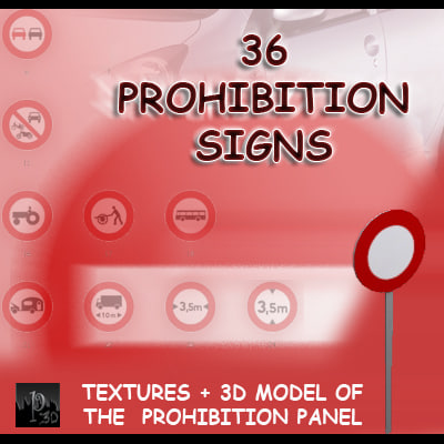 3ds max signs interdiction 36