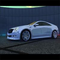 3d cadillac cts concept car model