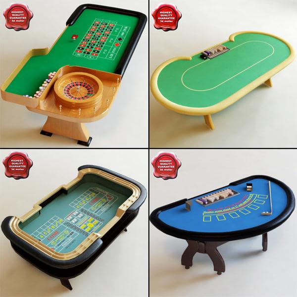 casino modelled blackjack 3d model