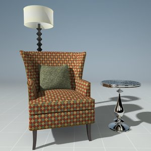 max chair lamp end table