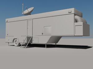 trailer 3d obj