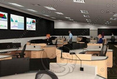 maya control room desk stations