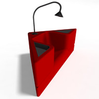 triangle chair 3d obj