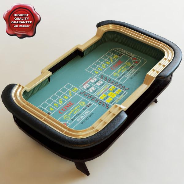 craps table 3d c4d