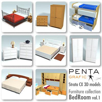 strata beds furniture vol 1 3d 3ds