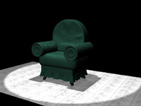 3ds max living room chair