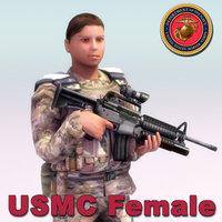 3d usmc female model