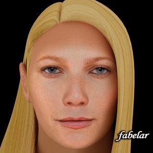 3ds head gwyneth paltrow hair
