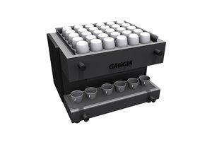 3d gaggia coffee maker model