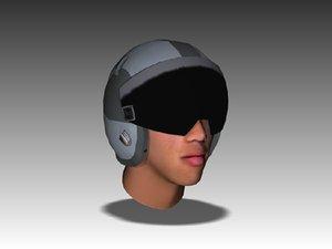 3d military hgu-55 helmet