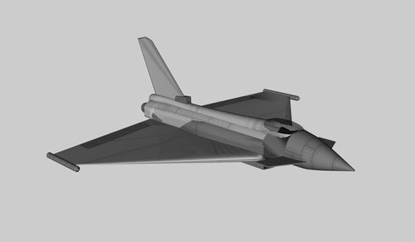 euro fighter 3d model