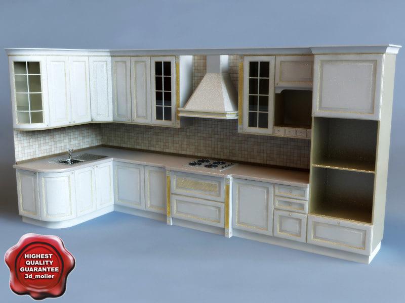 kitchen interior 3d 3ds