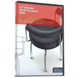 3d le corbusier furniture multi-view