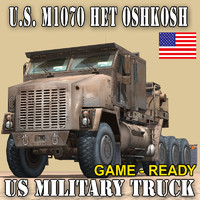military truck oshkosh m1070 3d model